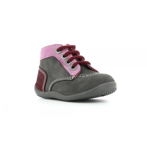 Kickers BONBON GREY DARK PINK