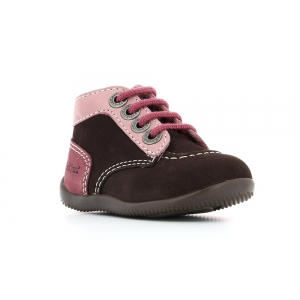 Kickers BONBON MARRON ROSE