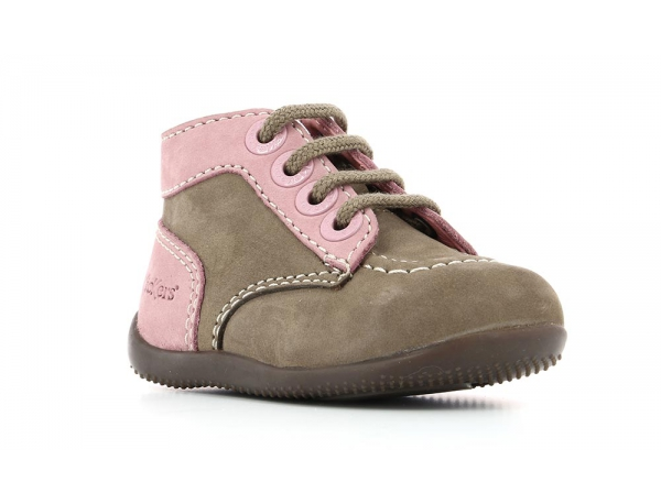 Kickers BONZIP GREY PINK