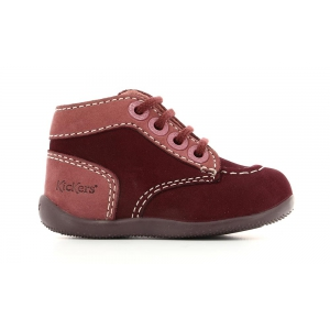 Kickers BONZIP BORDEAUX ROSE