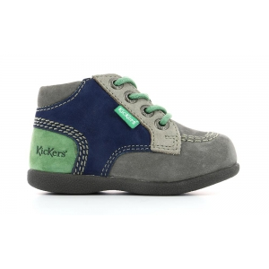 Kickers BABYSTAN GREY GREEN GREY
