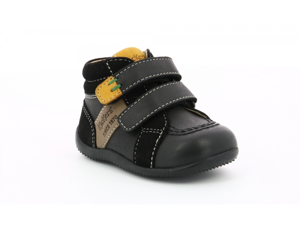 Kickers BAKA BLACK GREY YELLOW