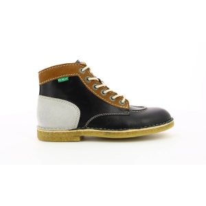 Kickers KICK LEGEND BLACK WHITE BEIGE