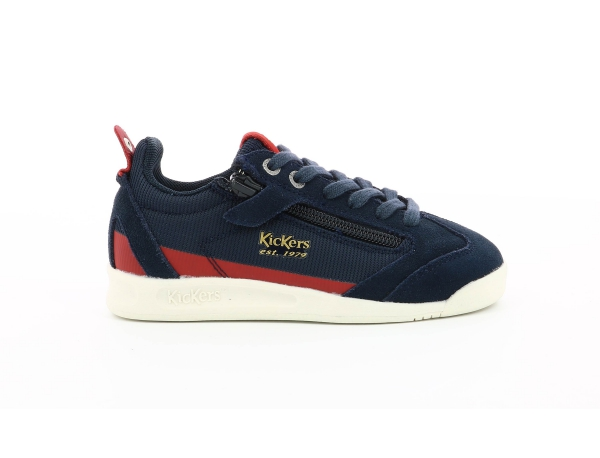 KICK 18 JUNIOR ZIP MARINE / ROUGE