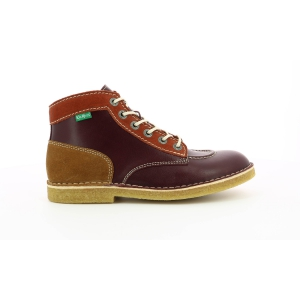 Kickers KICK LEGEND MULTICOLORED BURGUNDY