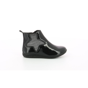 Kickers VERMILLON BLACK PATENT