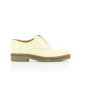 Kickers OXFORK WHITE PATENT