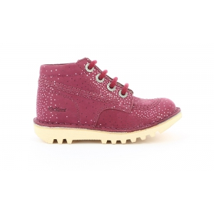Kickers NEORALLYE BORDEAUX METALLIC
