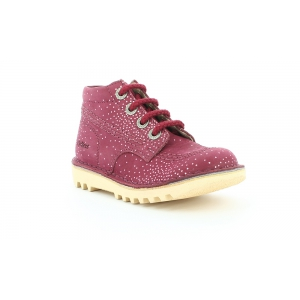 Kickers NEORALLYE BURGUNDY METAL